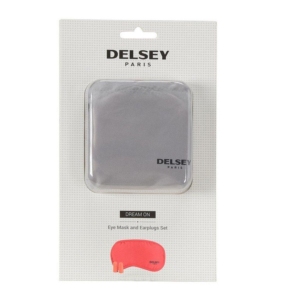 Delsey Delsey Accessoires Schlafmaske mit Ohrstöpsel in rot