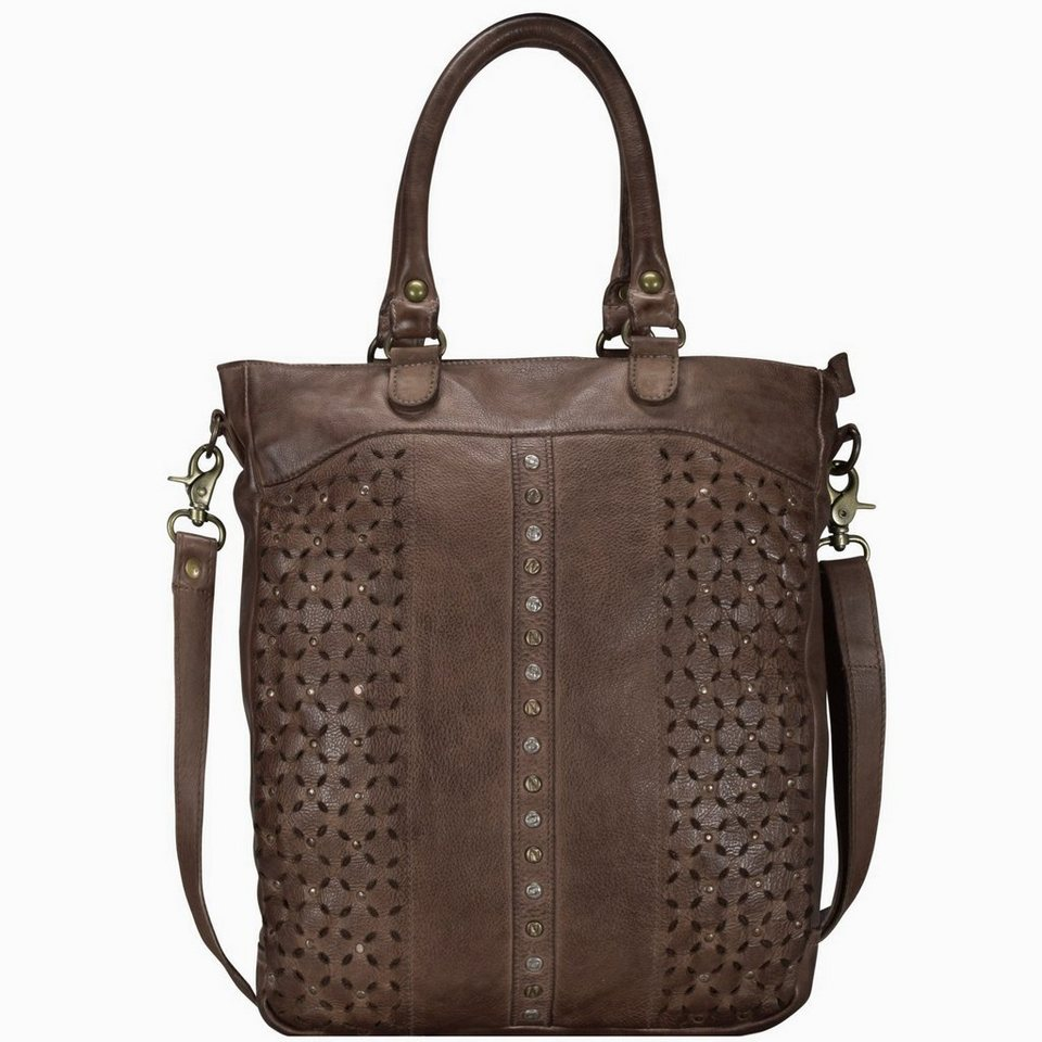 Billy The Kid Punched Sky Shopper Tasche Leder 31 cm in coffee
