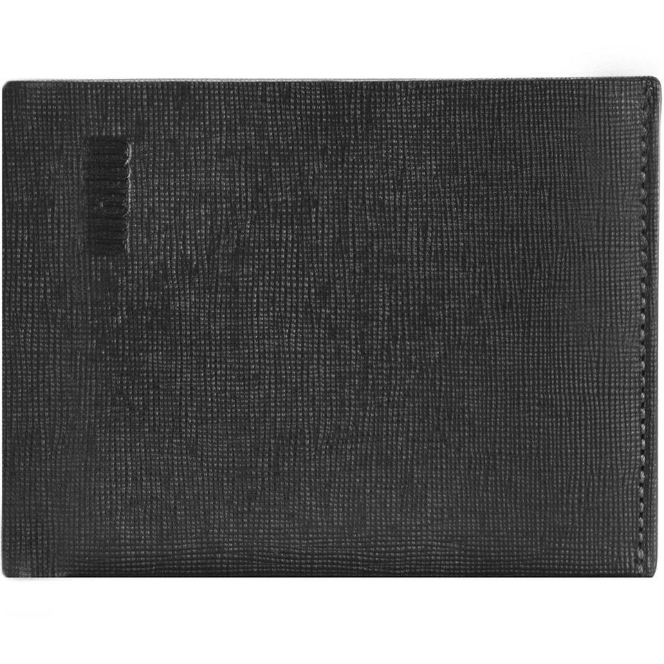 mano mano Conventus Geldbörse Leder 12 cm in schwarz-braun