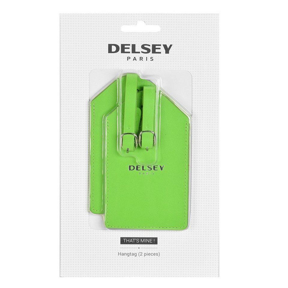 Delsey Delsey Accessoires Adressanhänger 7 cm in hellgrün