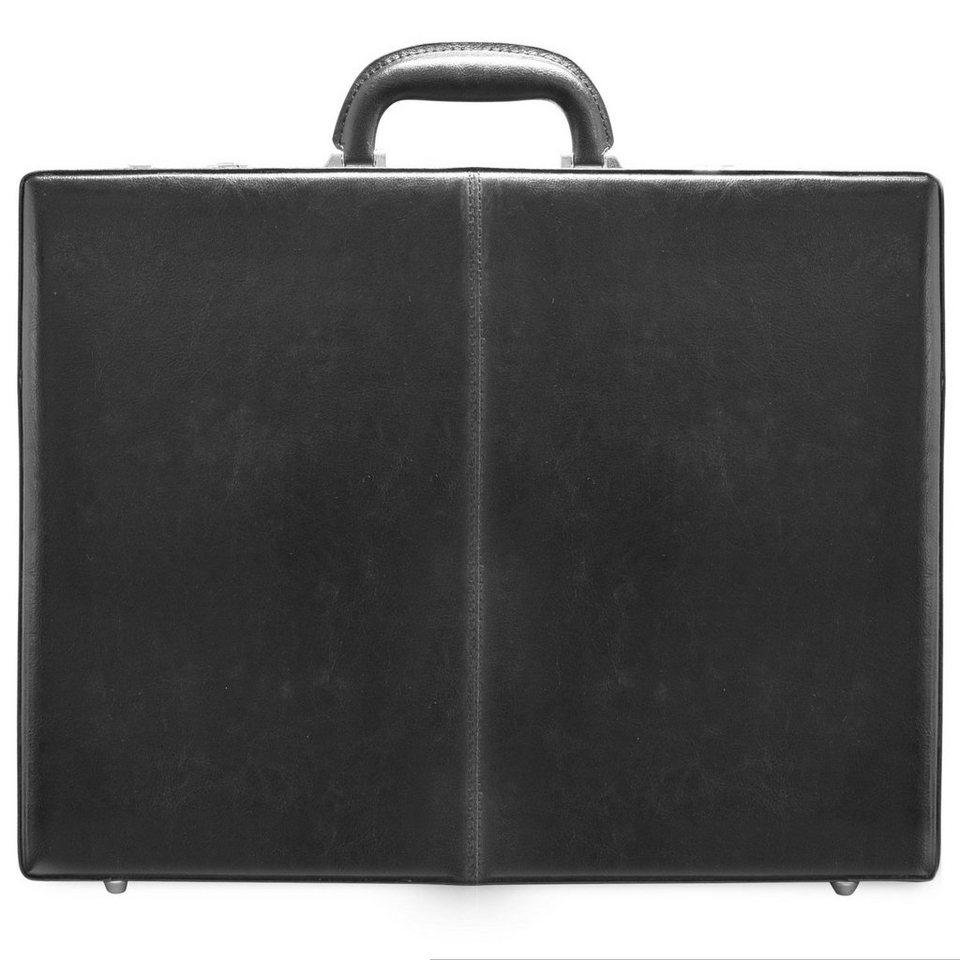 d & n Tradition Business Aktenkoffer Leder 46 cm in schwarz