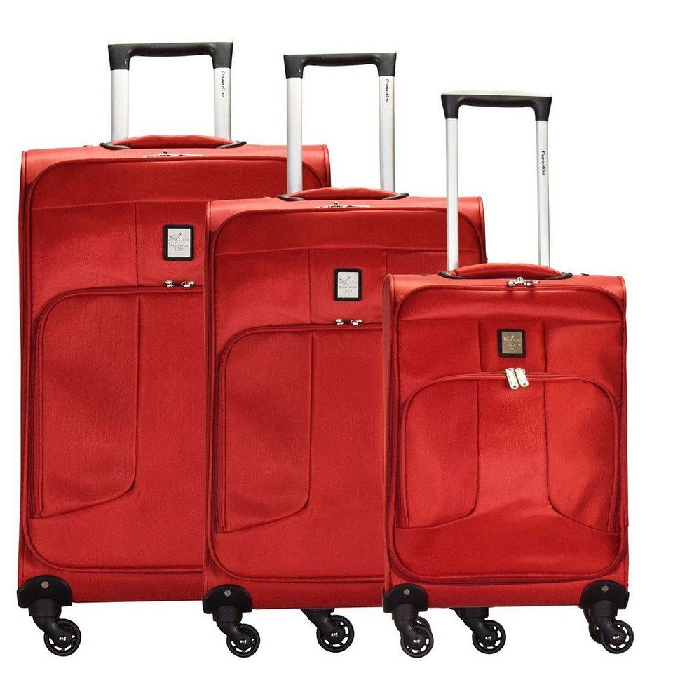 CHECK.IN Florenz 4-Rollen Kofferset 3tlg. in rot