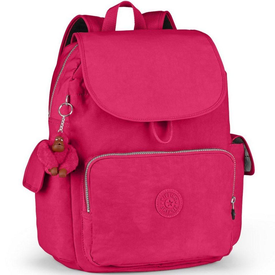 Kipling Kipling Basic City Pack L B Rucksack 35 cm in flamboyant pink