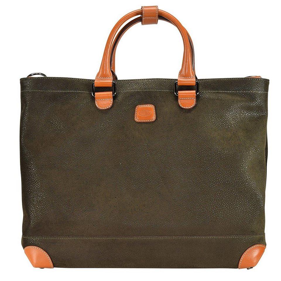 Bric's Life Milano Shopper Tasche 37 cm Laptopfach in olive