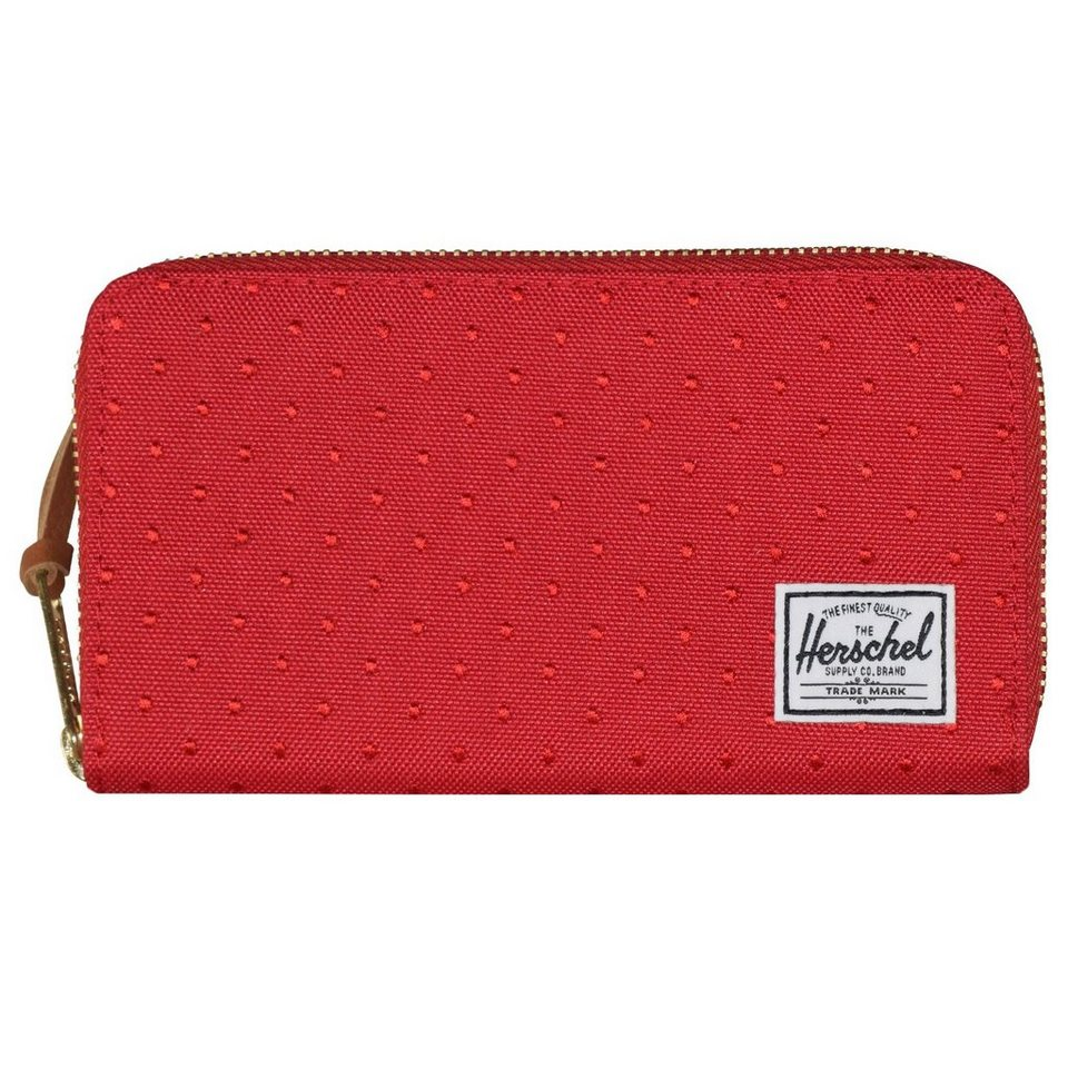 Herschel Herschel Wallets Thomas Geldbörse 16,5 cm in red embroidery polka