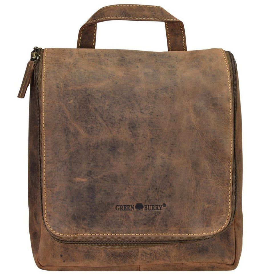 Greenburry Vintage Kulturbeutel Leder 22 cm in brown