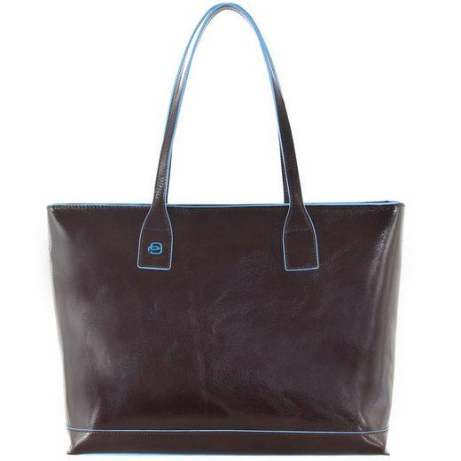 Cm Piquadro Blue 35 Leder Shopper Square Tasche wgYdxgrO