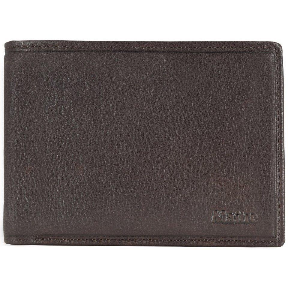 Maître Dario Galbert BillFold H8 Geldbörse Leder 13 cm in dark brown