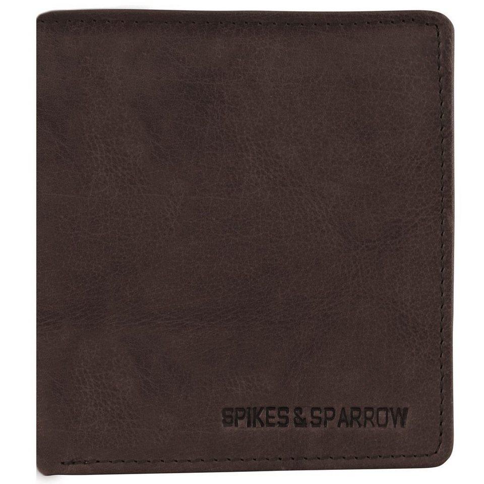 Spikes & Sparrow Spikes & Sparrow Bronco Wallets Geldbörse Leder 11 cm in darkbrown