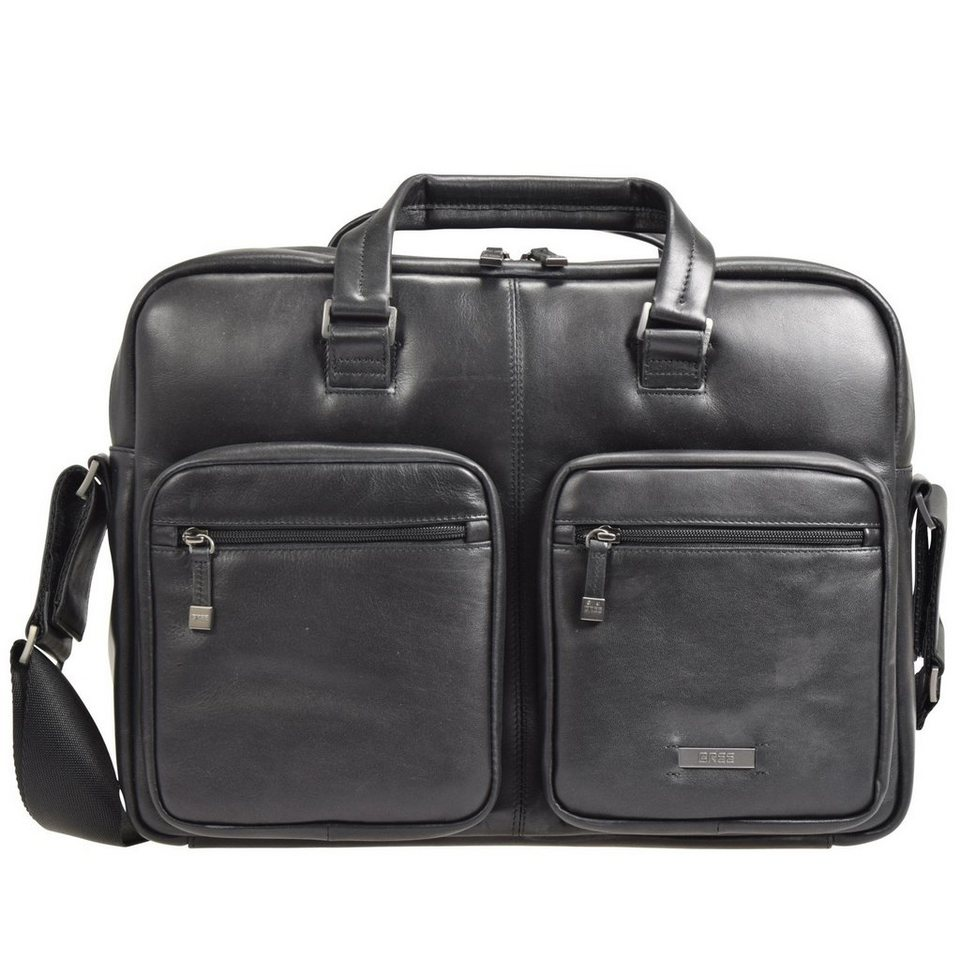 BREE Milano 1 Businesstasche Leder 40 cm Laptopfach in black