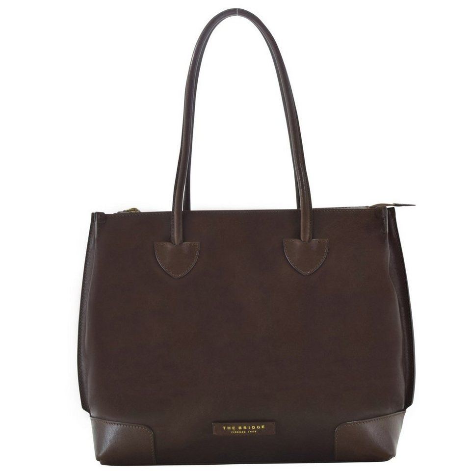 The Bridge The Bridge Passpartout Donna Shopper Tasche Leder 45 cm in marrone