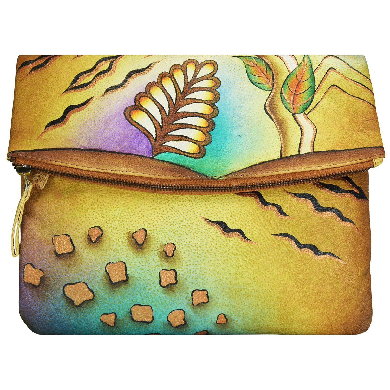 GREENLAND Art + Craft Umhängetasche Leder 28 cm