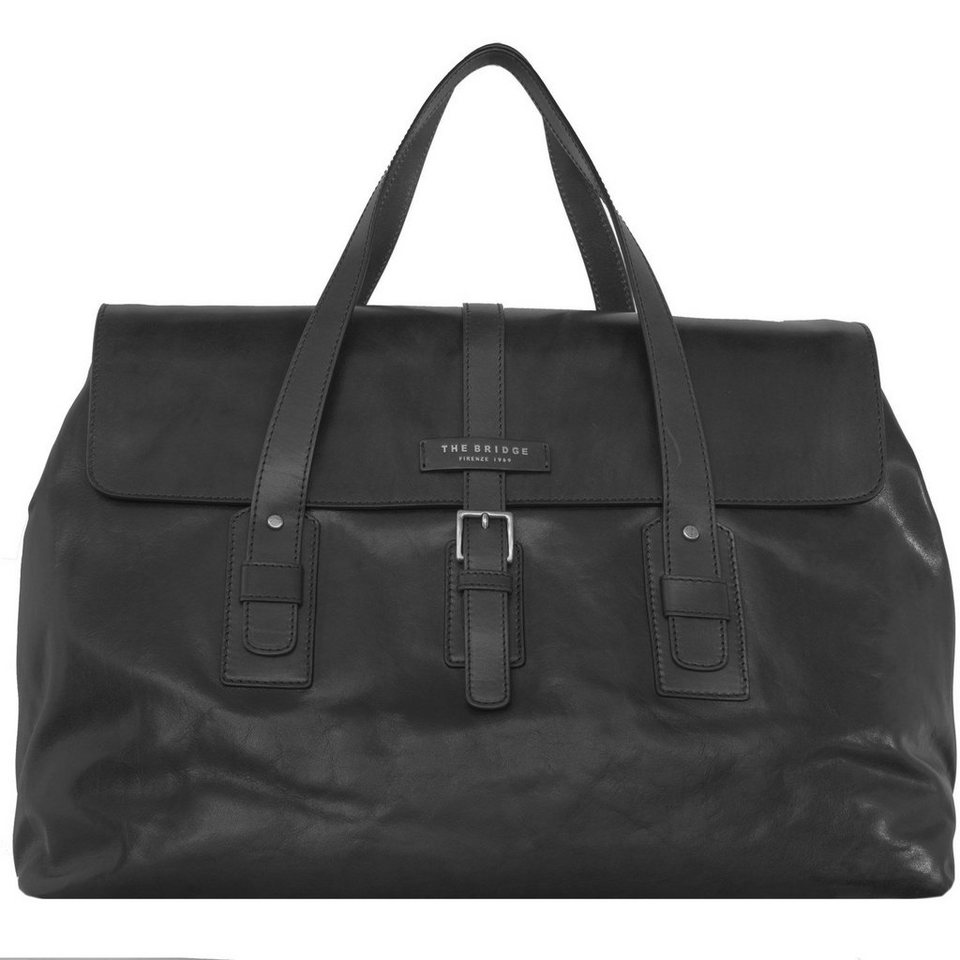 The Bridge The Bridge Classic Marco Polo Weekender Reisetasche Leder 50 cm in nero