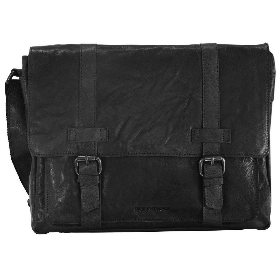 Spikes & Sparrow Spikes & Sparrow Bronco Aktentasche Leder 34,5 cm in black