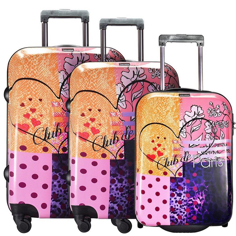travelite Travelite Flux 2-/4-Rollen Kofferset 3tlg. in love