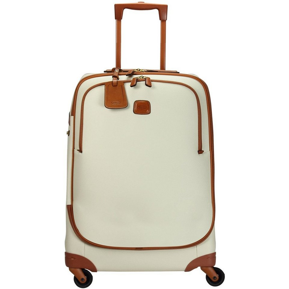Bric's Bojola 4-Rollen Trolley 77 cm in cream