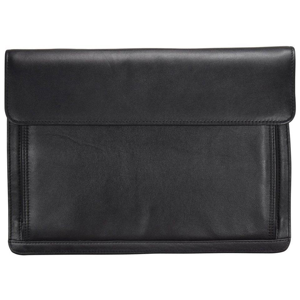 Dermata Dermata Aktentaschen Aktenmappe Leder 36,5 cm in schwarz