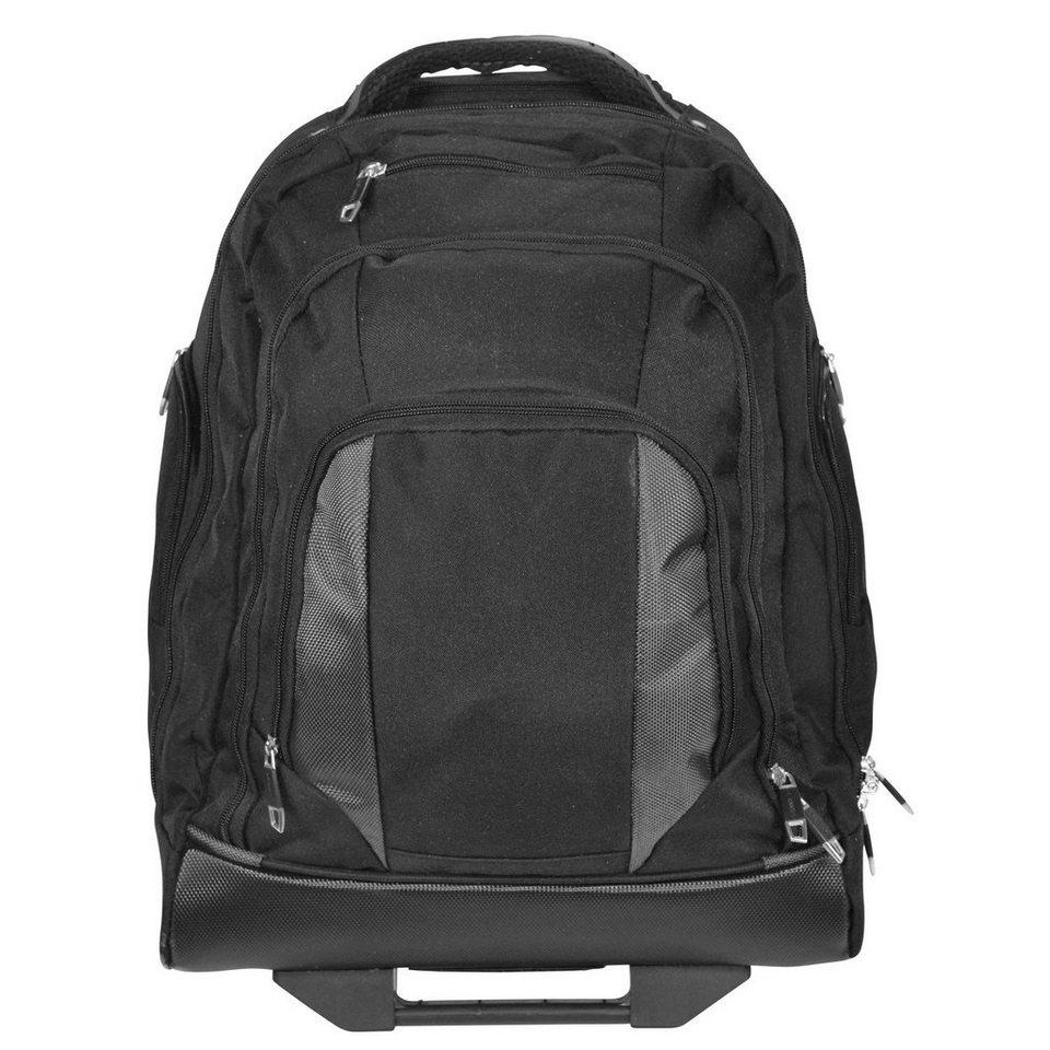 Dermata Dermata 2-Rollen Rucksack-Trolley 48 cm Laptopfach in schwarz-grau
