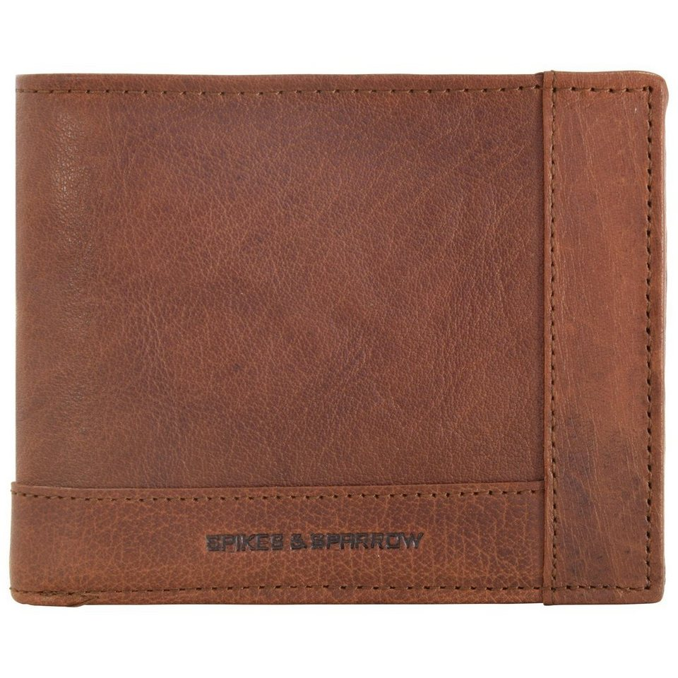 Spikes & Sparrow Bronco Wallets Geldbörse Leder 12,5 cm in brandy