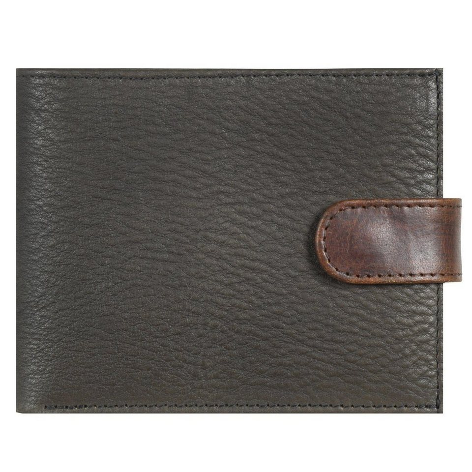JOST Jost Bronx Geldbörse Leder 12,5 cm in schwarz