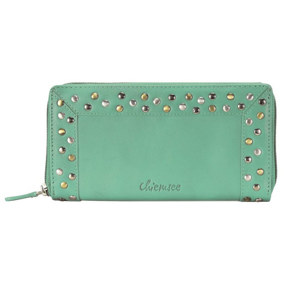Chiemsee Chiemsee Rivet Geldbörse Leder 20 cm in pastel green