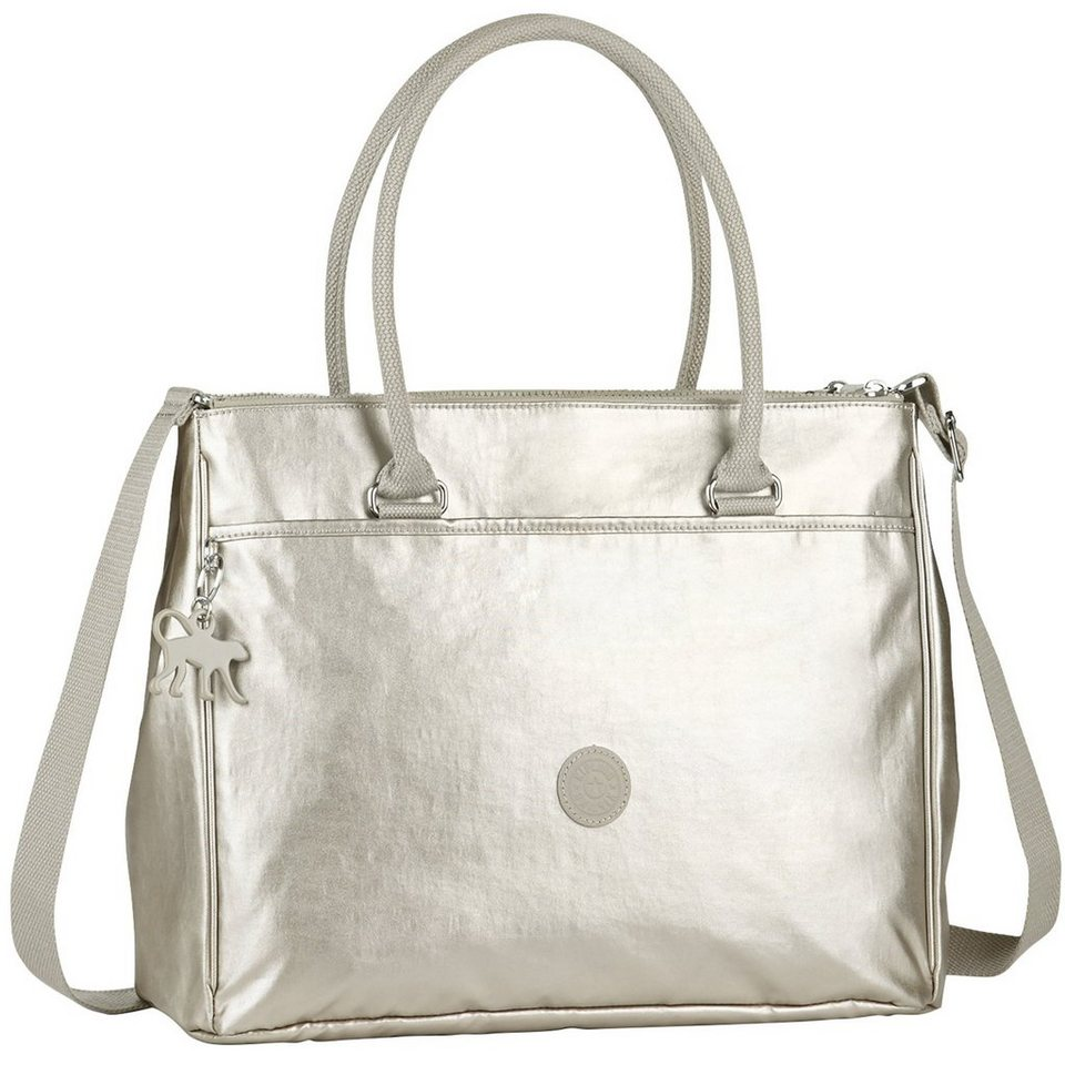 KIPLING Basic New Halia BP Shopper Tasche 37 cm in silvercolored beige