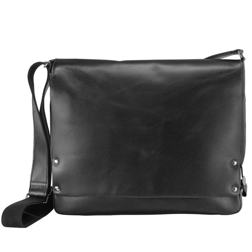 Harold's Jil Messenger Leder 36 cm in schwarz