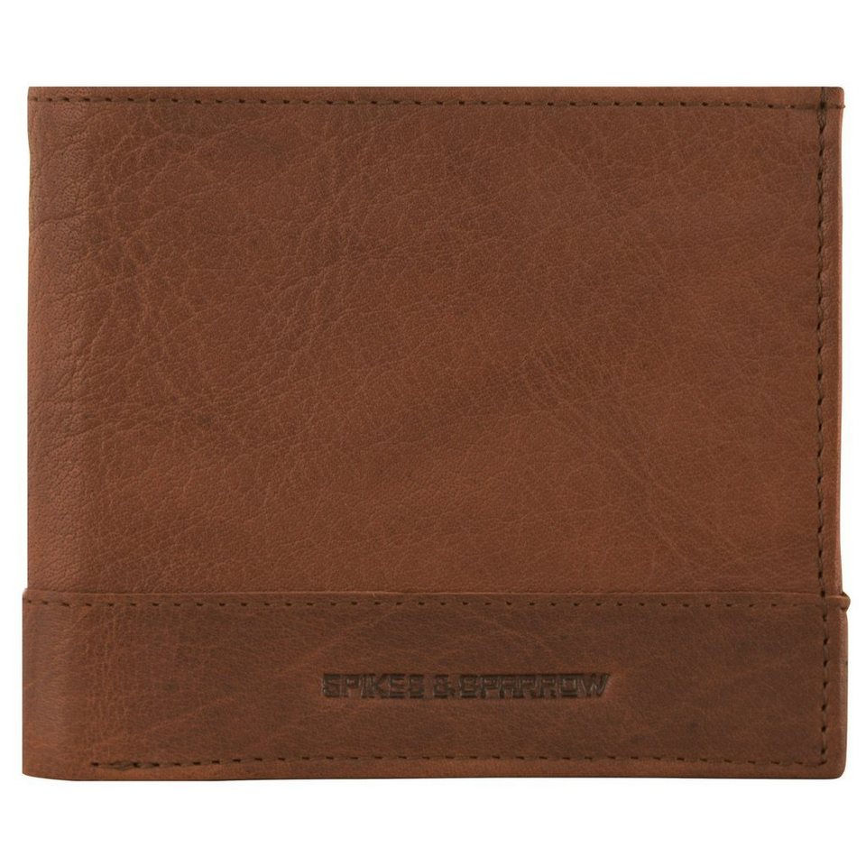 Spikes & Sparrow Bronco Wallets Geldbörse Leder 11,5 cm in brandy