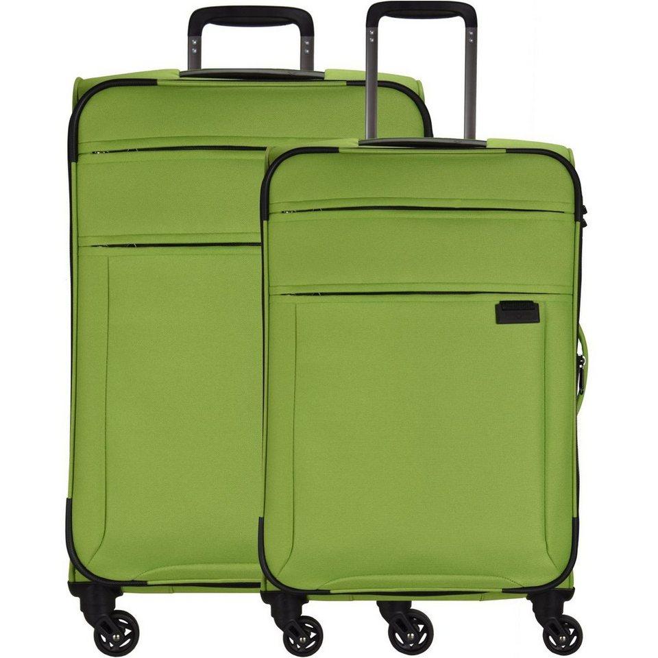 Hardware Hardware Take off 4-Rollen Trolley Kofferset 2-tlg. in green apple - black