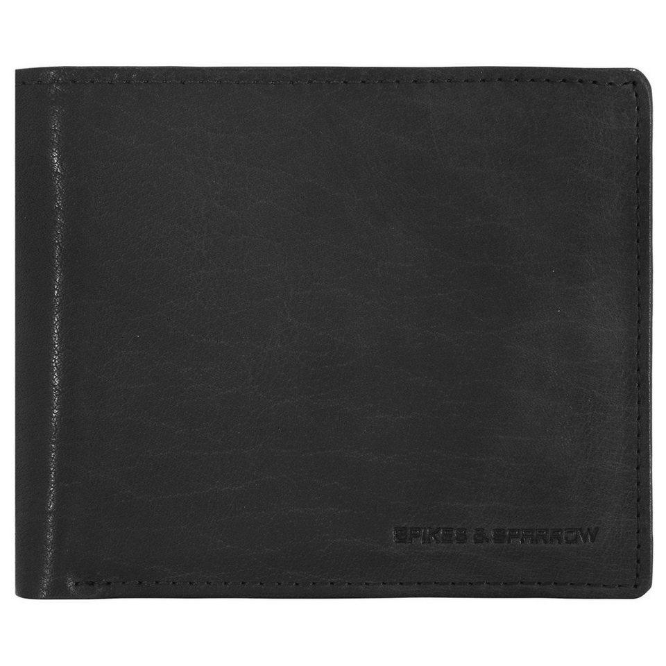 Spikes & Sparrow Bronco Wallets Geldbörse Leder 12,5 cm in black