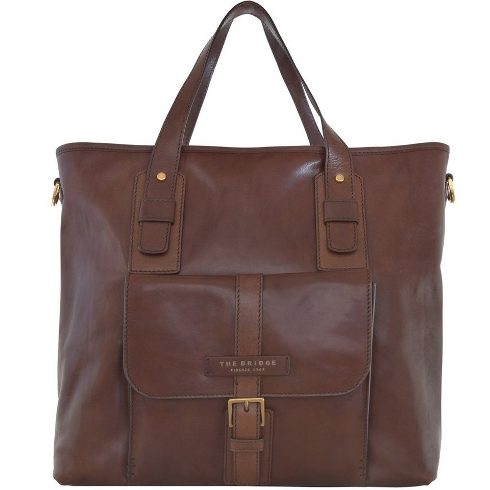 The Bridge The Bridge Marco Polo Shopper Tasche Leder 39 cm in marrone
