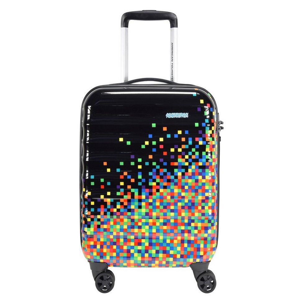 American Tourister Palm Valley Spinner 4-Rollen Kabinen-Trolley 55 cm in pixel black