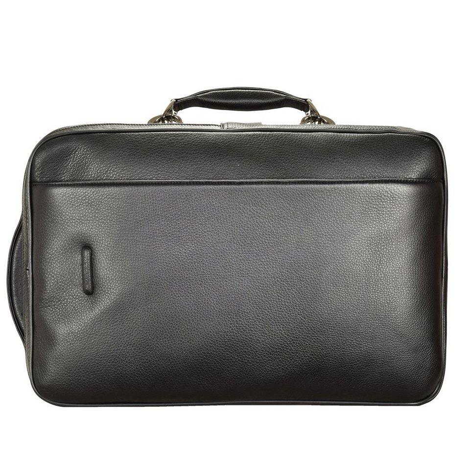 Piquadro Modus Rucksack 46 cm Leder Laptopfach in schwarz