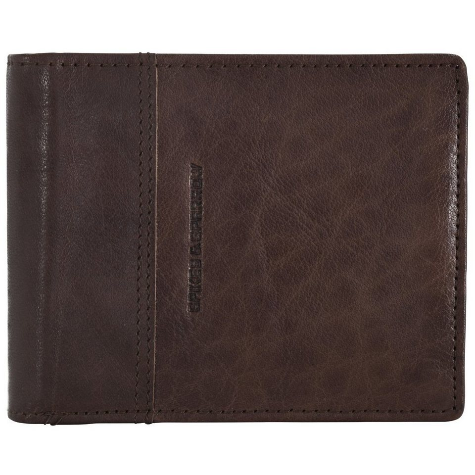Spikes & Sparrow Spikes & Sparrow Bronco Wallets Geldbörse Leder 12,5 cm in darkbrown