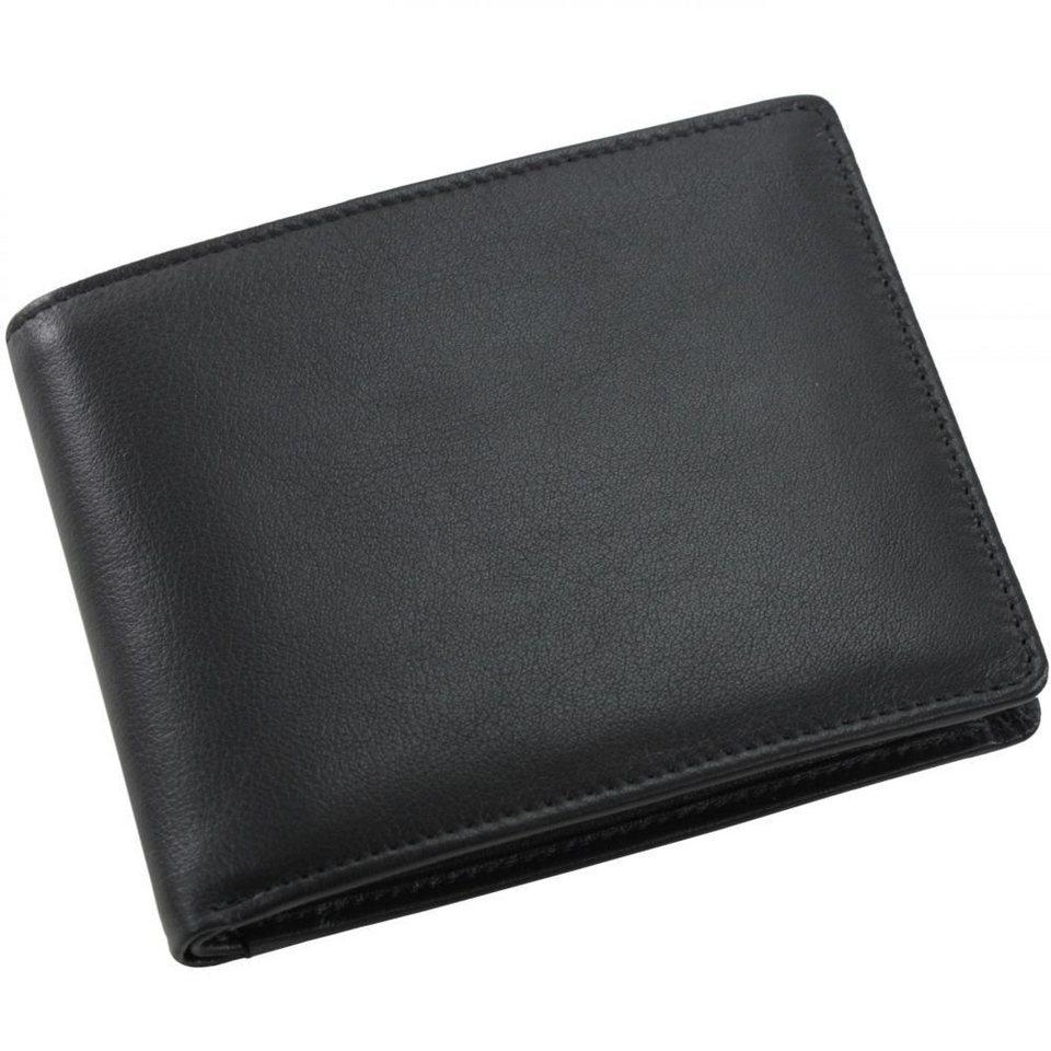 Picard Eurojet Geldbörse Leder 12 cm in schwarz