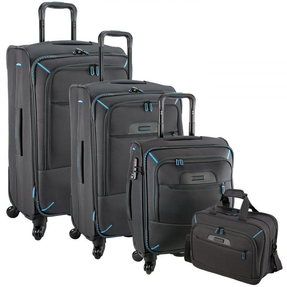 travelite crosslite 4 rollen trolley set 3 tlg. Black Bedroom Furniture Sets. Home Design Ideas