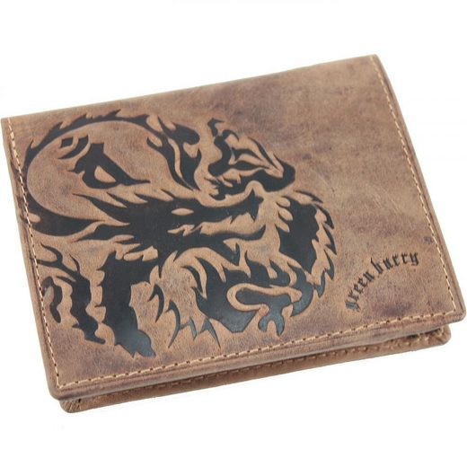 Greenburry Dragon Geldbörse Leder 9,5 cm