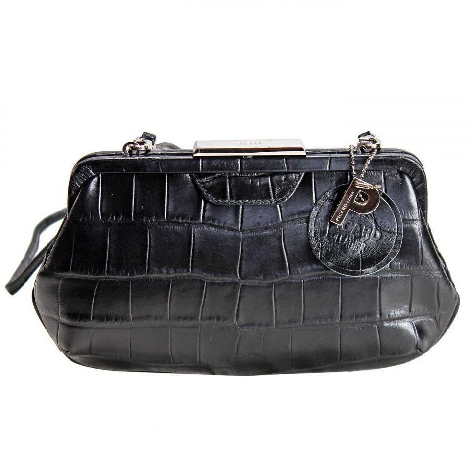 Picard Auguri Damentasche Leder 26 cm in schwarz - Kroko