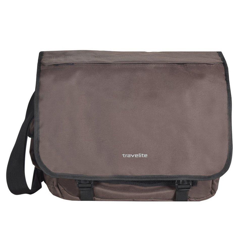 travelite Basics Messenger Tasche mit Organizer 34 cm in braun