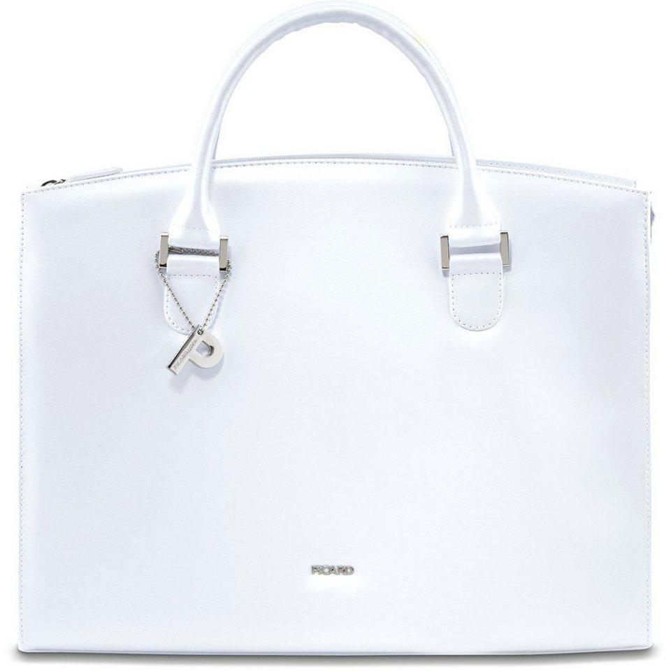 Picard Berlin Business-Handtasche Leder 36 cm in perle