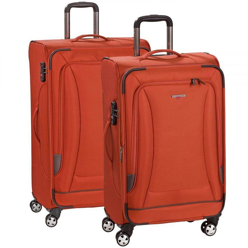 Hardware Hardware O-Zone 2tlg. Set Trolleys 4-Rollen in orange-grey