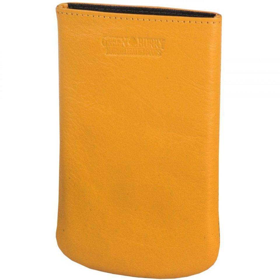 Greenburry Greenburry Spongy iPhone4, iPhone4S Handytasche Leder 7,5 cm in yellow