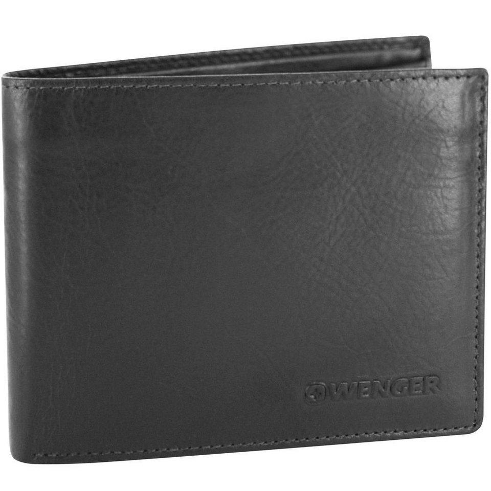 Wenger Rautispitz Geldbörse Leder 12 cm in schwarz