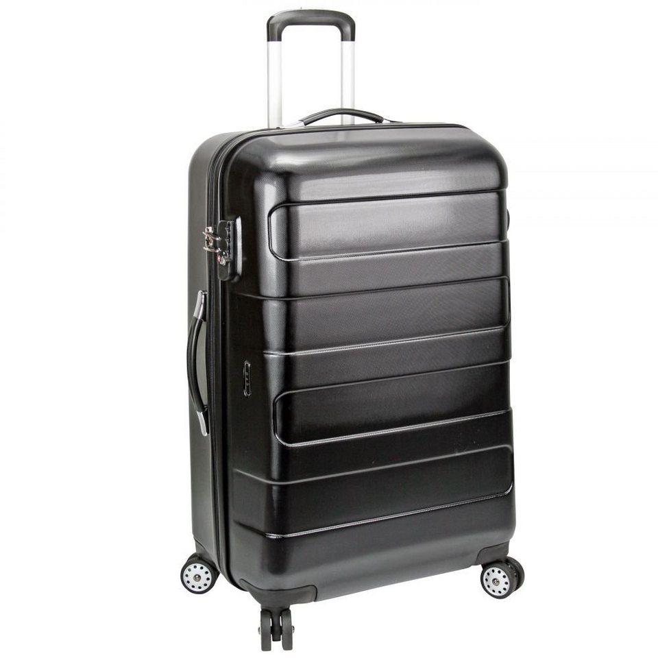 d & n Travel Line 8600 4-Rollen Trolley 72 cm in schwarz