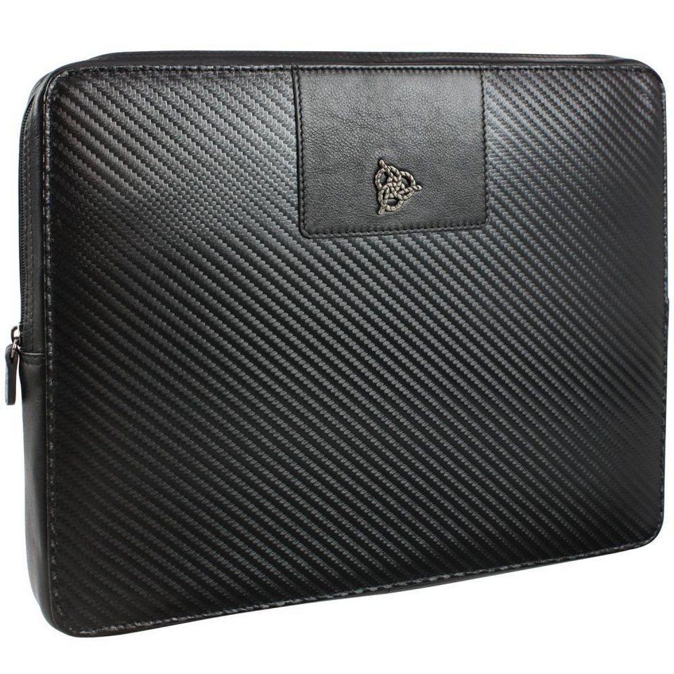 Roy Robson Techno iPad-Hülle Leder 28,5 cm in schwarz
