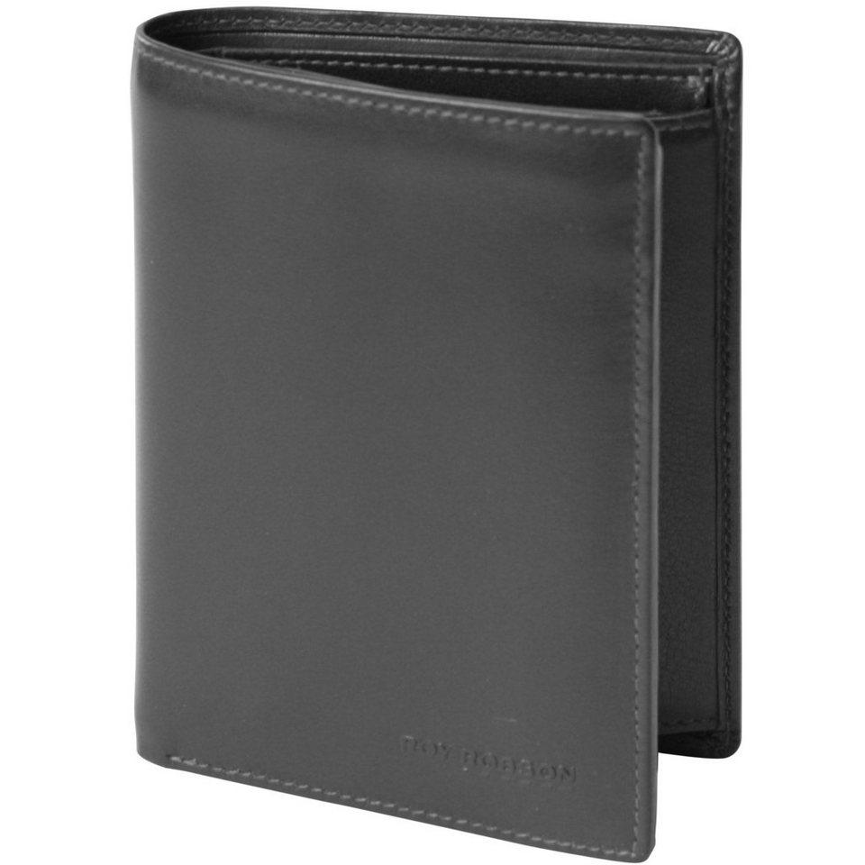 Roy Robson Tender Touch Geldbörse Leder 9,5 cm in schwarz