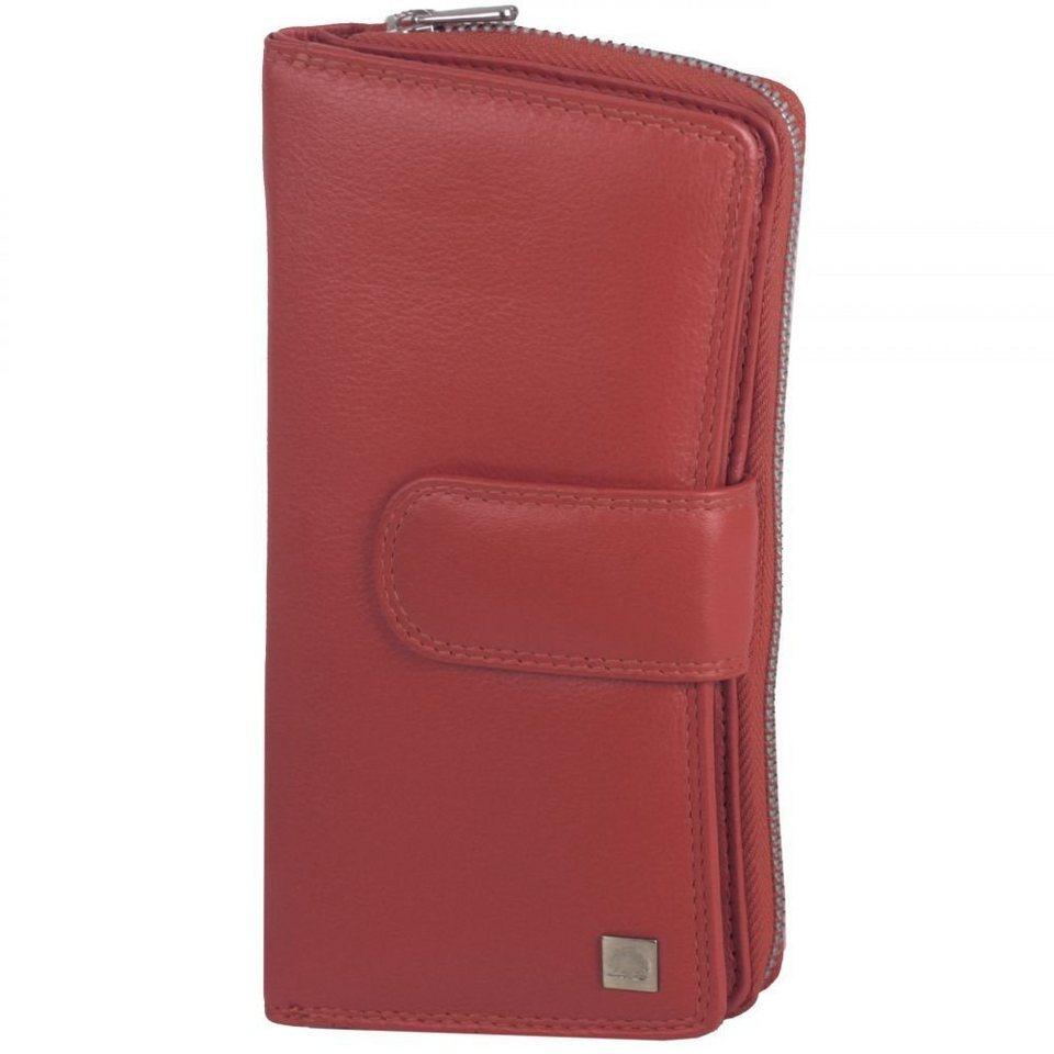 Greenburry Greenburry Spongy Geldbörse Leder 9,5 cm in red
