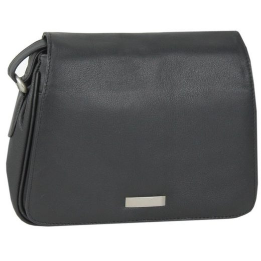 Mika Soft Nappa Damentaschen Flap Bag Leder 28 cm
