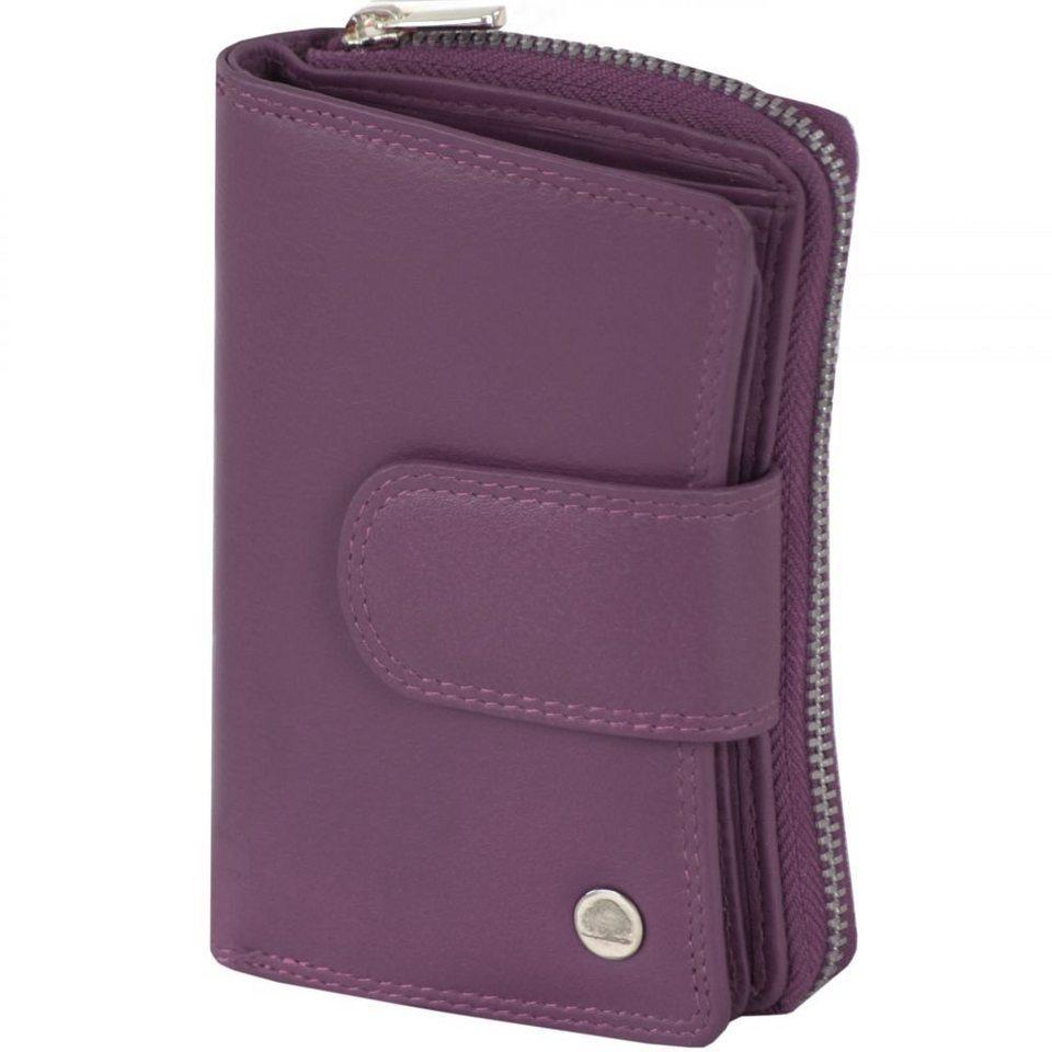 Greenburry Spongy Geldbörse Leder 8,5 cm in purple