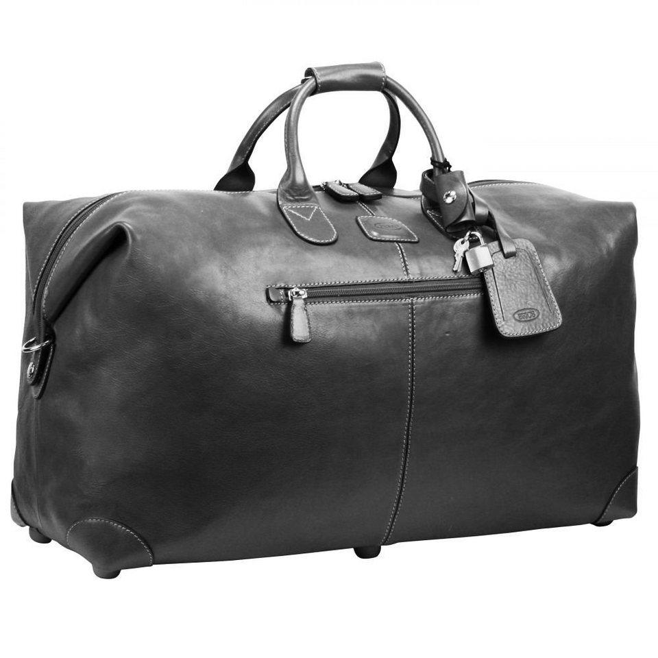 Bric's Life Pelle Reisetasche Leder 53 cm in schwarz